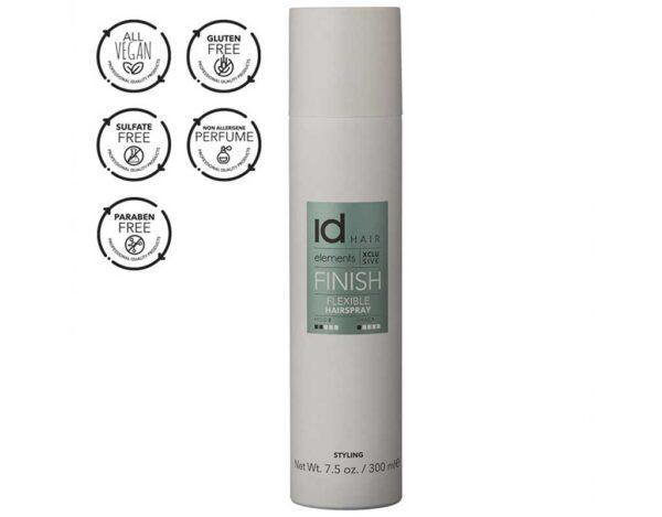 Fixativ flexibil Flexible Hairspray Elements Xclusive de la IdHAIR are uscare rapida si este recomandat pentru toate tipurile de par.