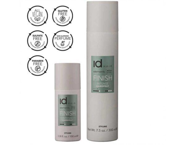 Fixativ intens Intense Hairspray Elements Xclusive de la IdHAIR are fixare foarte puternica si stralucire medie. Formula cu uscare rapida.