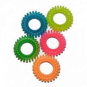 Banda par din silicon Secret Hair Band Glows. Aceste arcuri multicolore nu sunt doar elastice de păr. Acesta este un accesoriu elegant.