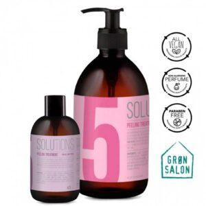 Tratament peeling Solutions No.5 IdHAIR este un gomaj pentru scalp si par care dizolva celulele moarte ale pielii lasand scalpul proaspat si confortabil.